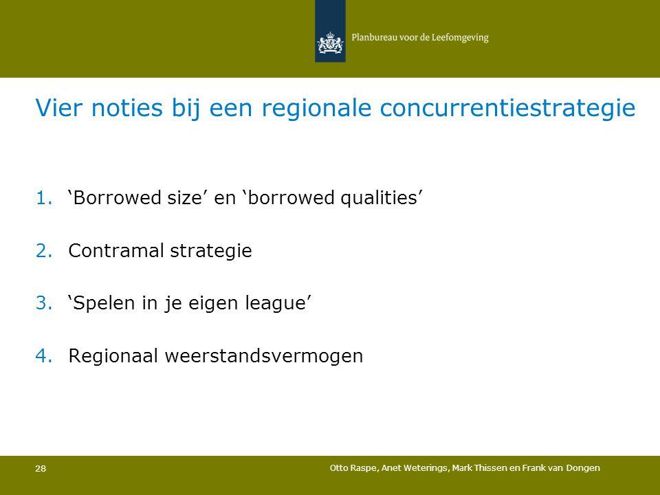 Vier noties bij een regionale concurrentiestrategie