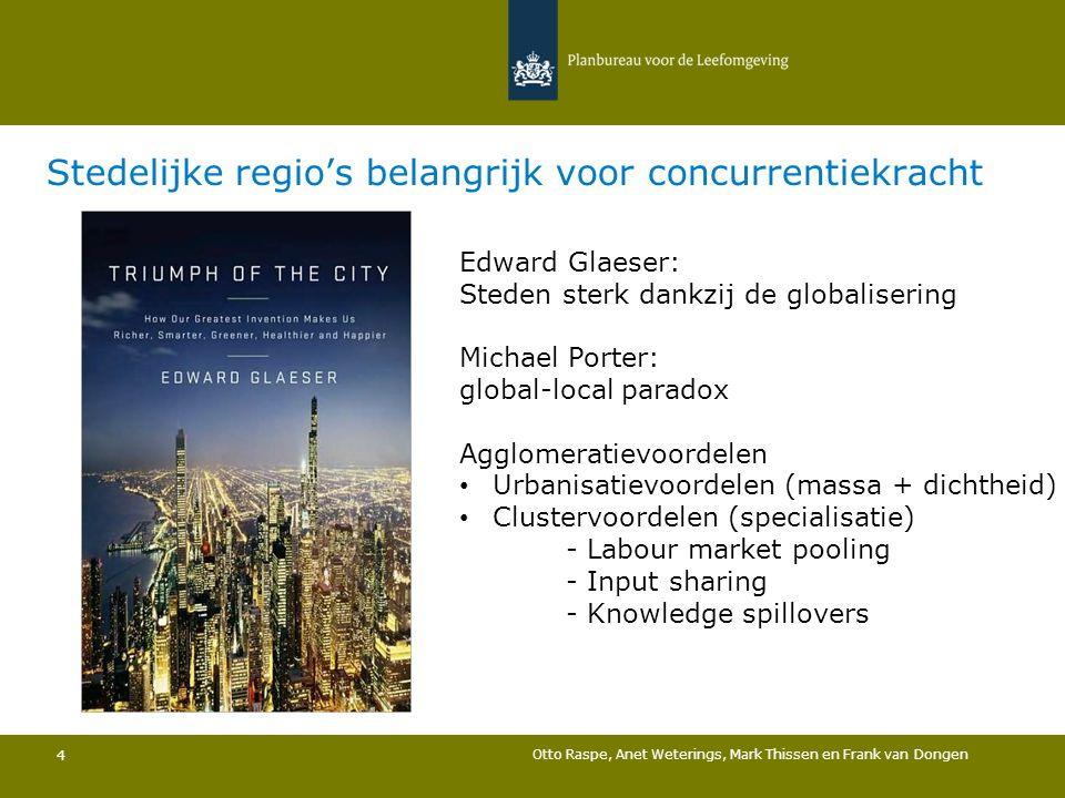 Stedelijke regio's belangrijk voor concurrentiekracht