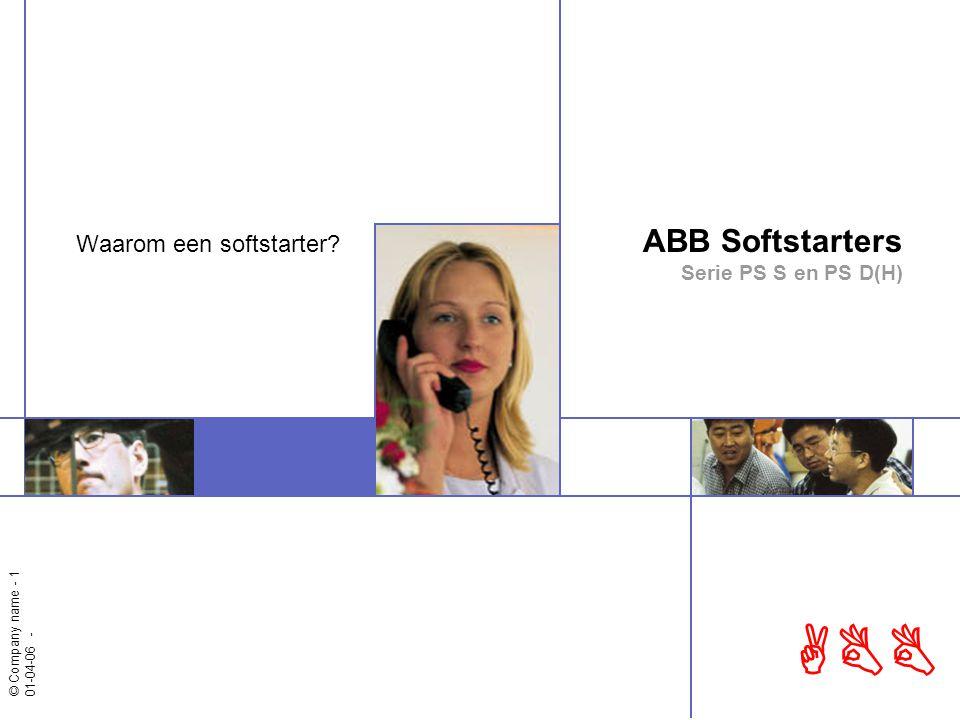 ABB Softstarters Serie PS S en PS D(H)