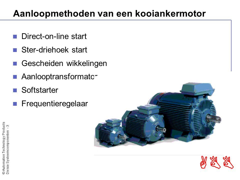 Aanloopmethoden van een kooiankermotor