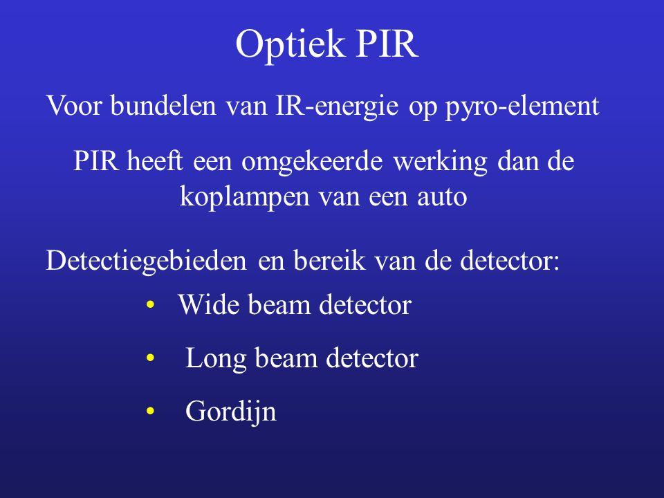 PIR heeft een omgekeerde werking dan de koplampen van een auto