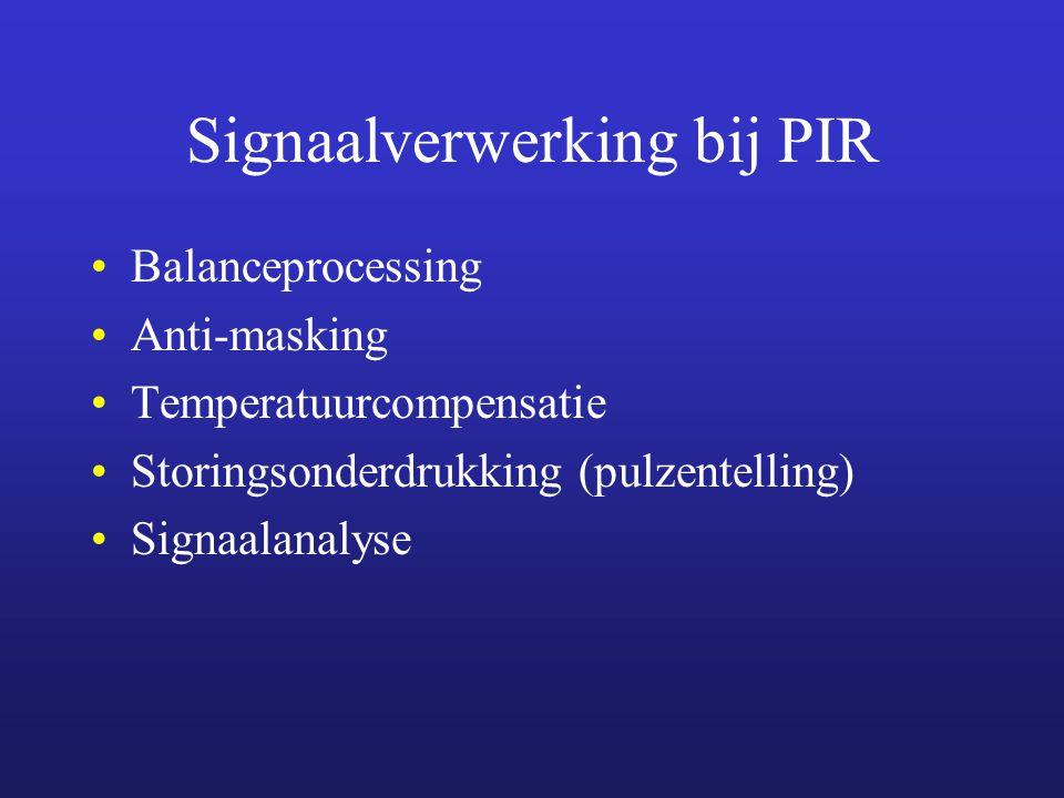 Signaalverwerking bij PIR