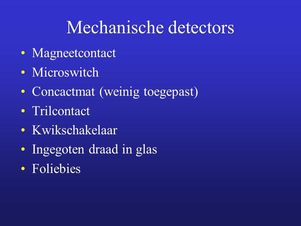 Mechanische detectors