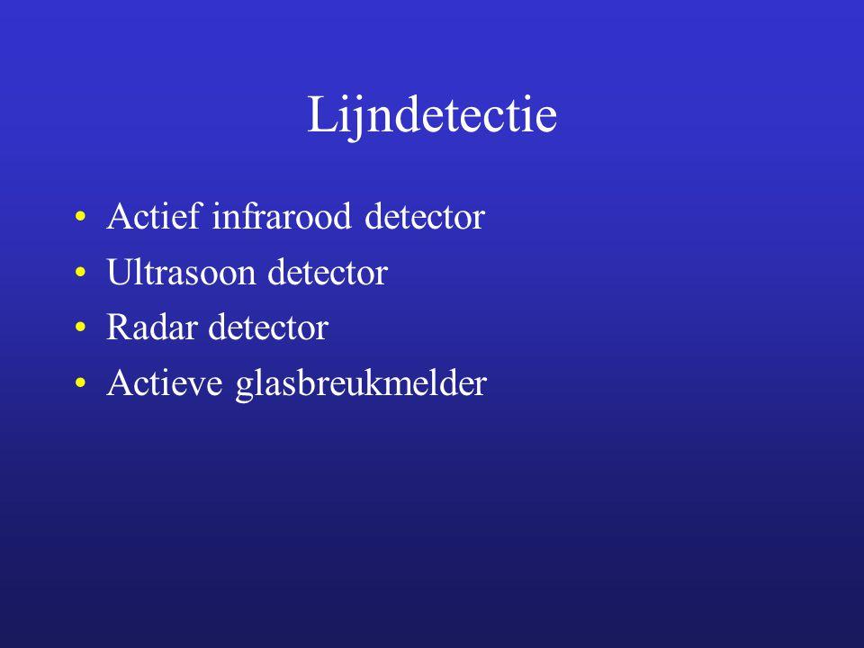 Lijndetectie Actief infrarood detector Ultrasoon detector