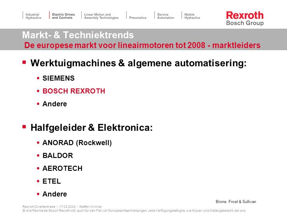 Werktuigmachines & algemene automatisering:
