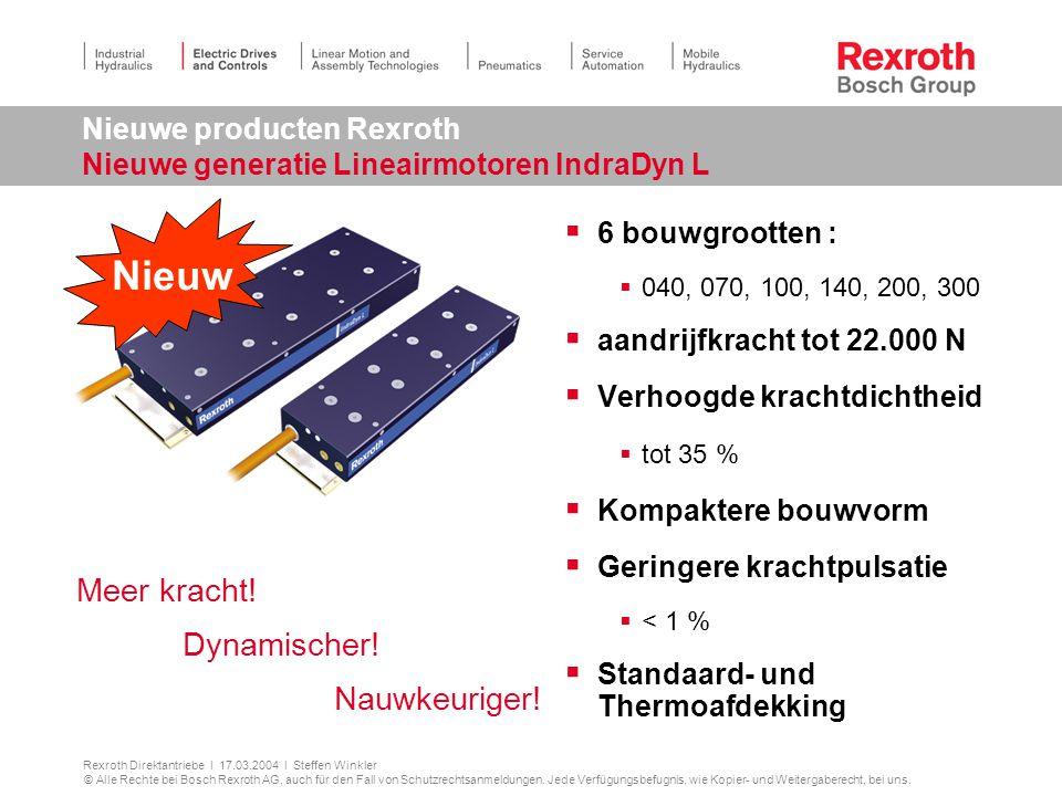 Nieuwe producten Rexroth Nieuwe generatie Lineairmotoren IndraDyn L