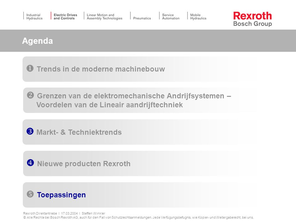 Agenda Trends in de moderne machinebouw