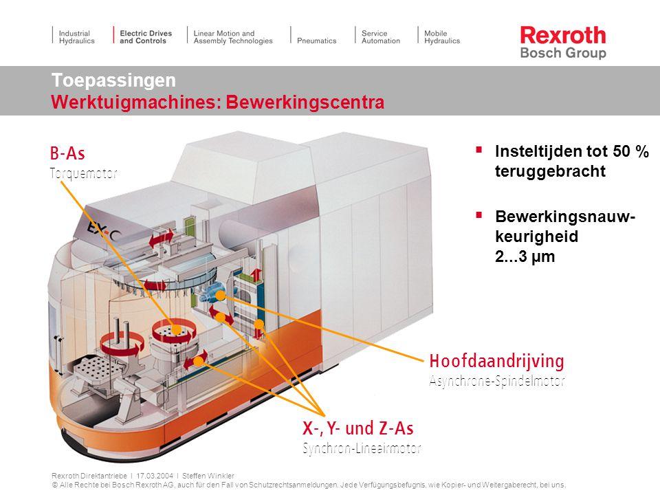 Toepassingen Werktuigmachines: Bewerkingscentra