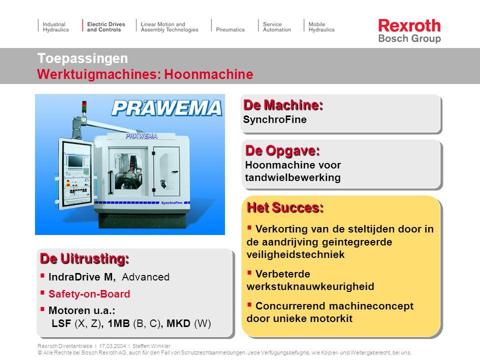 Toepassingen Werktuigmachines: Hoonmachine