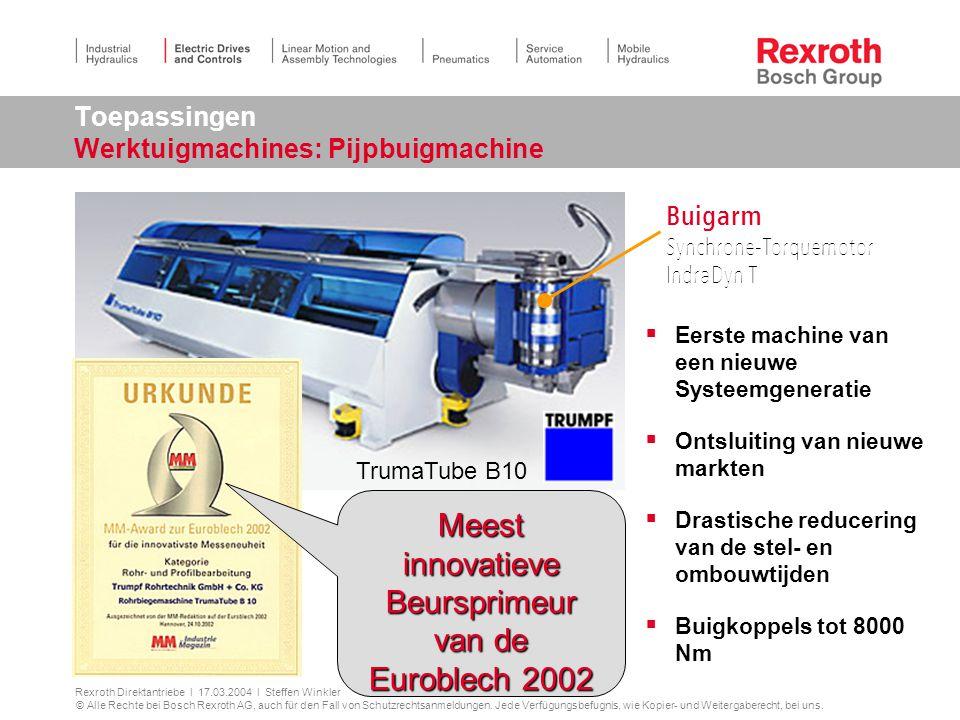 Toepassingen Werktuigmachines: Pijpbuigmachine