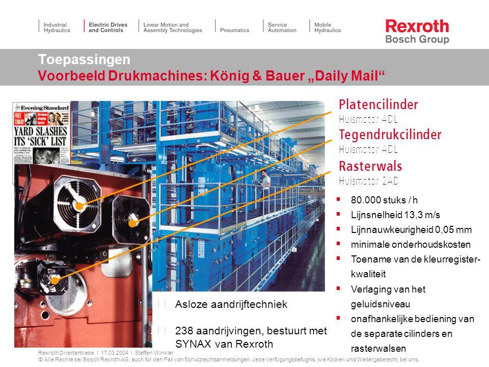 """Toepassingen Voorbeeld Drukmachines: König & Bauer """"Daily Mail"""
