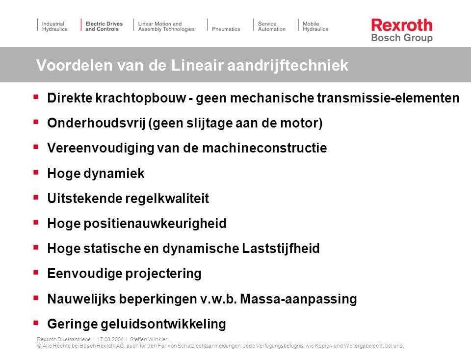 Voordelen van de Lineair aandrijftechniek