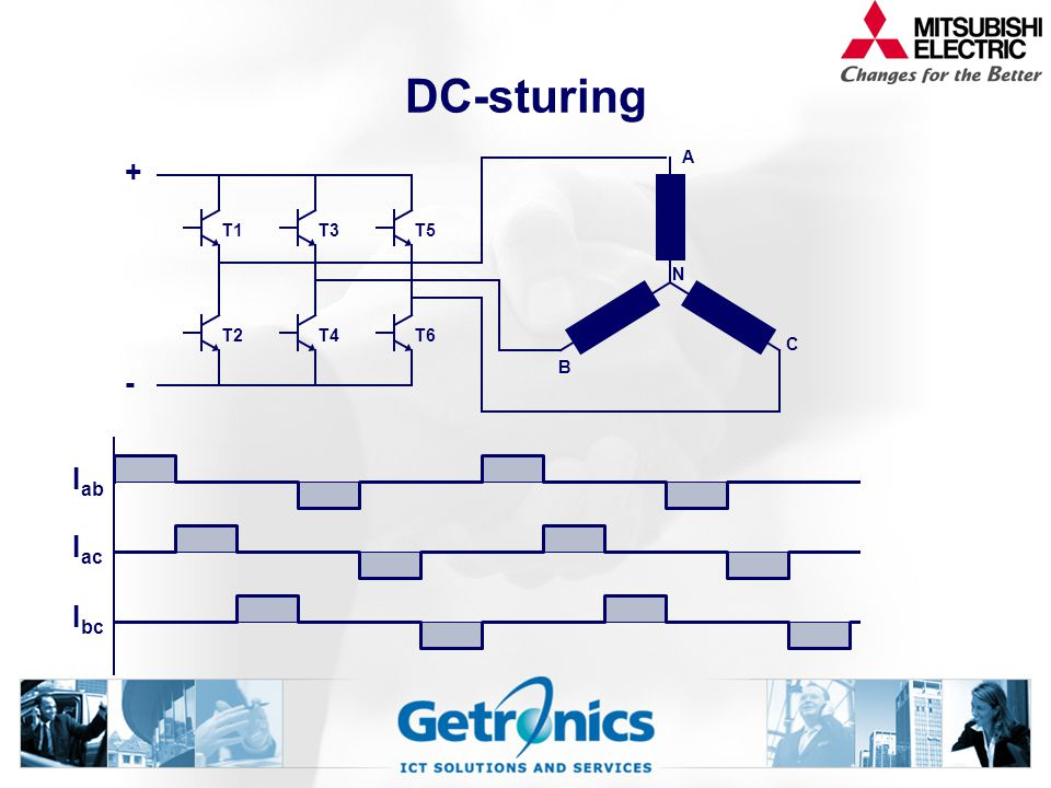 DC-sturing + - Iab Iac Ibc T1 T2 T3 T4 T5 T6 A B C N