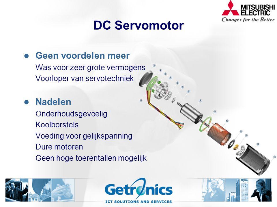 DC Servomotor Geen voordelen meer Nadelen