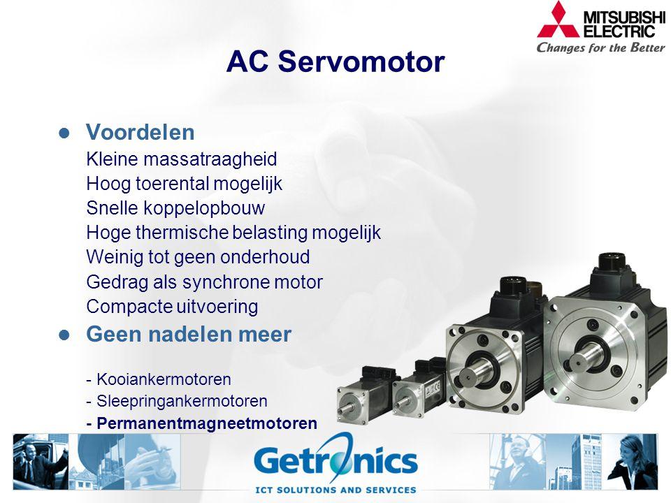 AC Servomotor Voordelen Geen nadelen meer Kleine massatraagheid