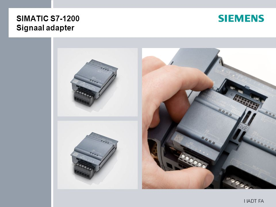 SIMATIC S7-1200 Signaal adapter