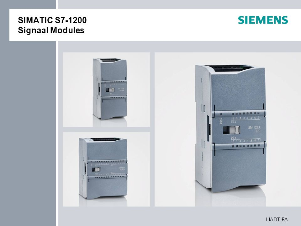 SIMATIC S7-1200 Signaal Modules