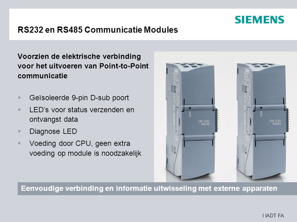RS232 en RS485 Communicatie Modules