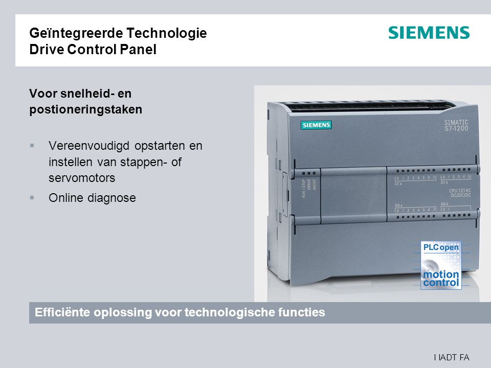 Geïntegreerde Technologie Drive Control Panel