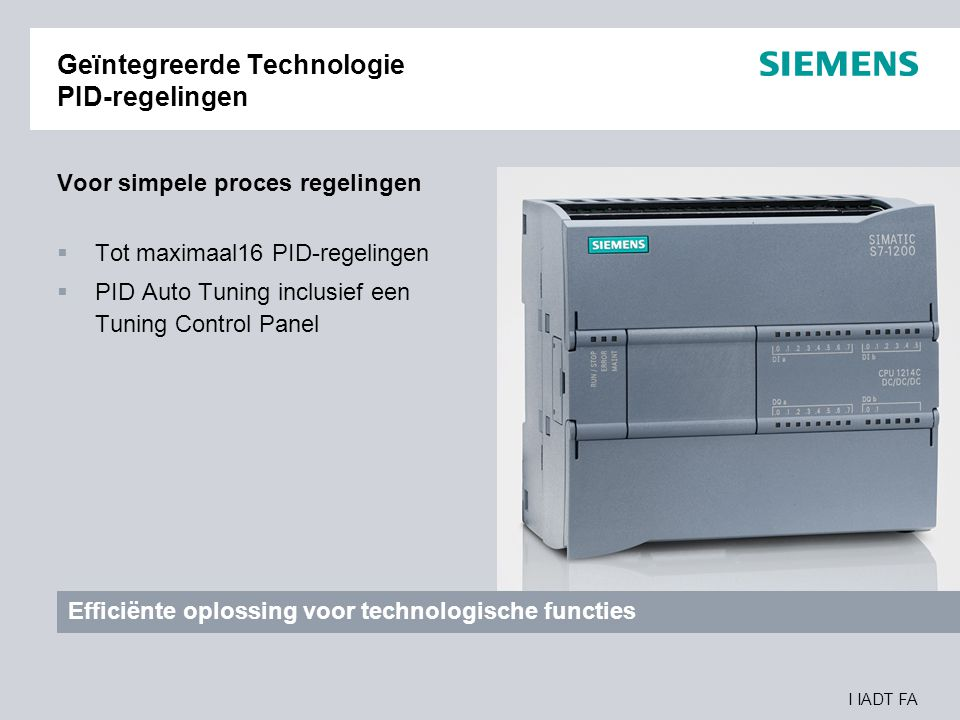 Geïntegreerde Technologie PID-regelingen