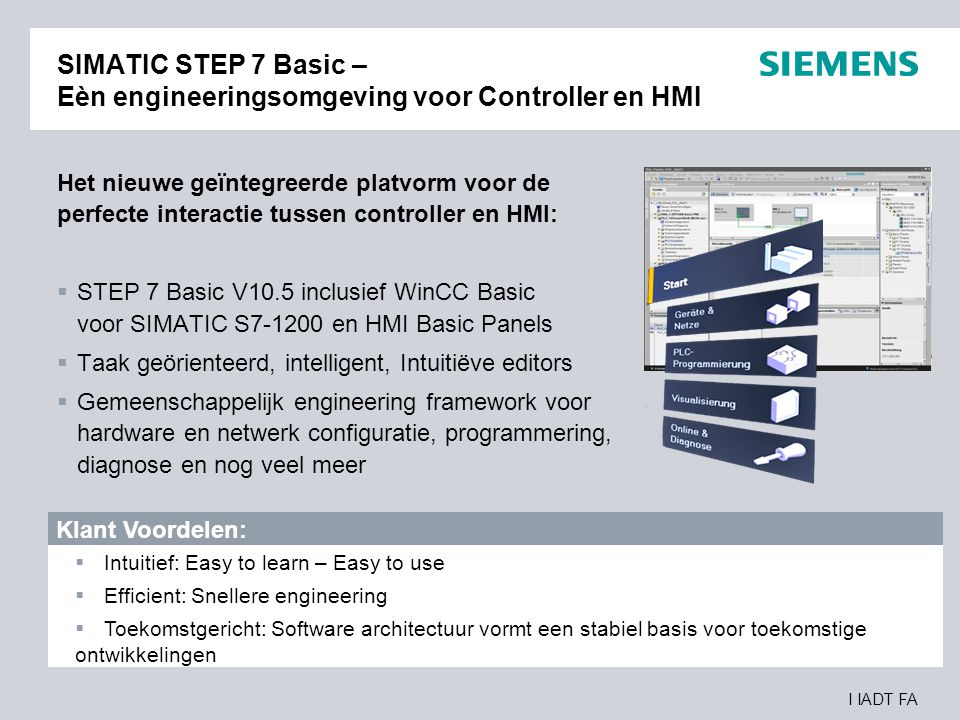 SIMATIC STEP 7 Basic – Eèn engineeringsomgeving voor Controller en HMI