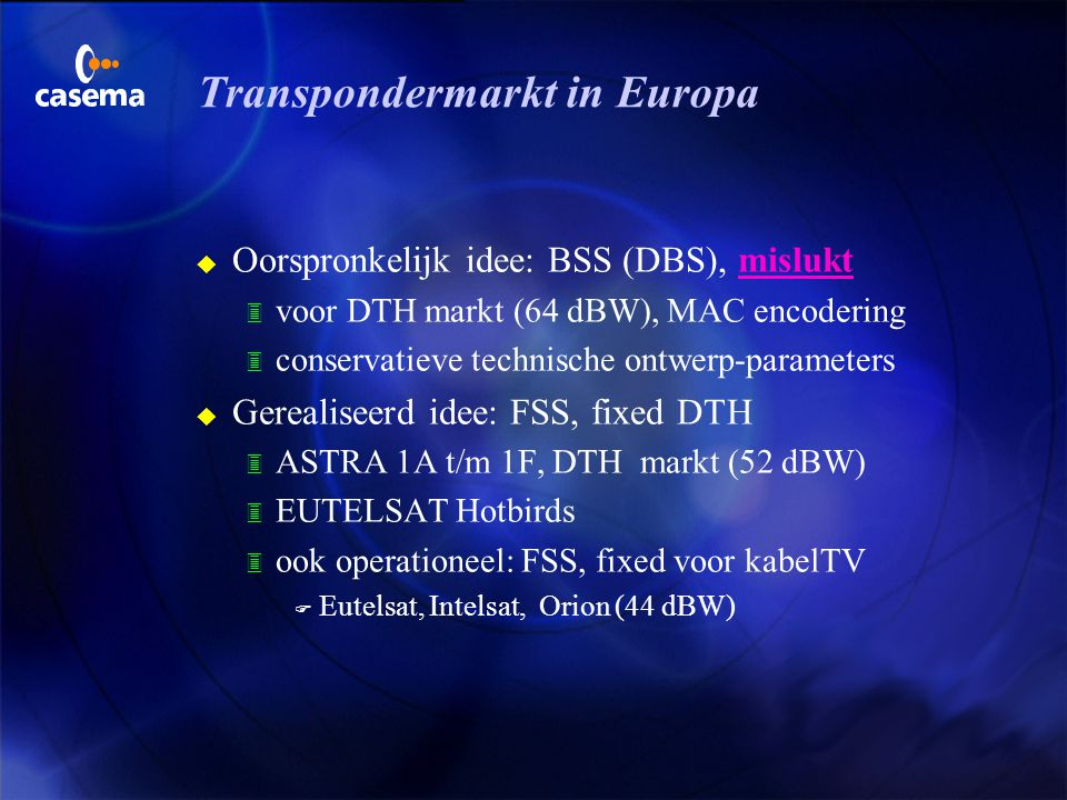 Transpondermarkt in Europa
