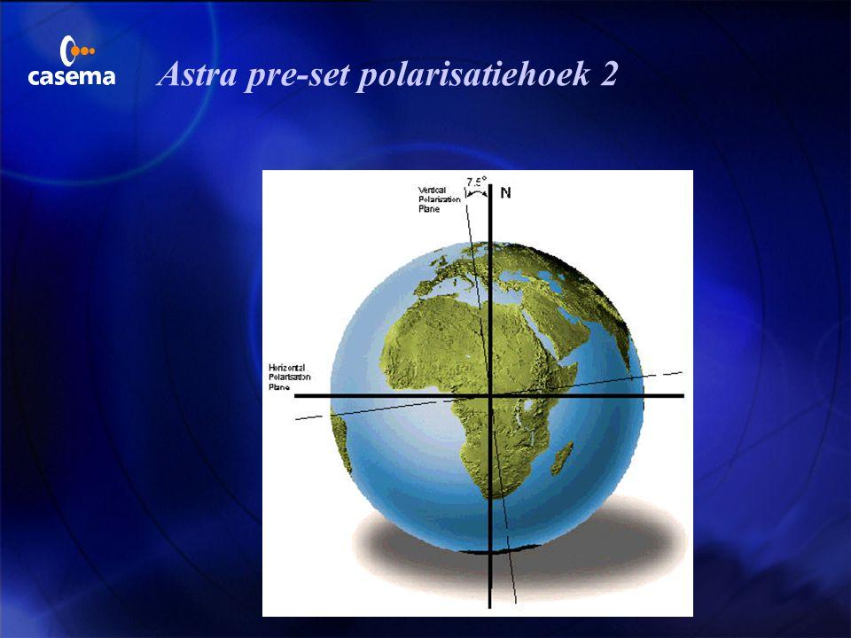 Astra pre-set polarisatiehoek 2