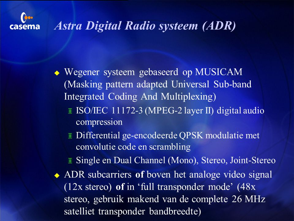Astra Digital Radio systeem (ADR)