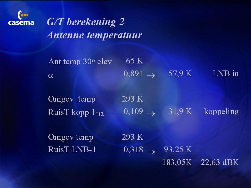 G/T berekening 2 Antenne temperatuur