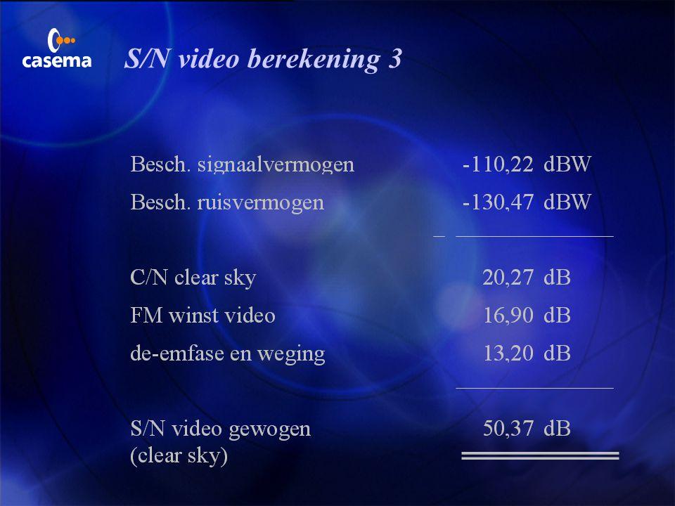 S/N video berekening 3