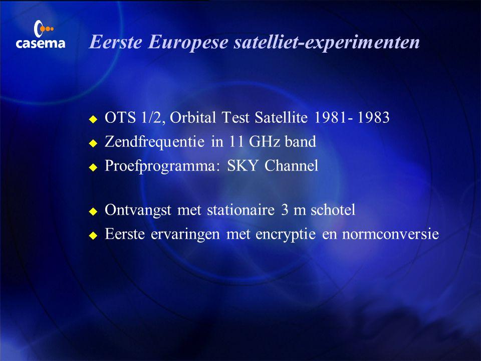 Eerste Europese satelliet-experimenten