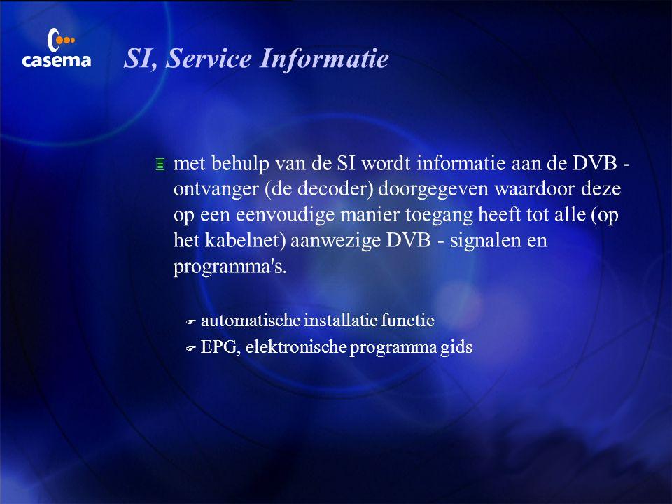 SI, Service Informatie