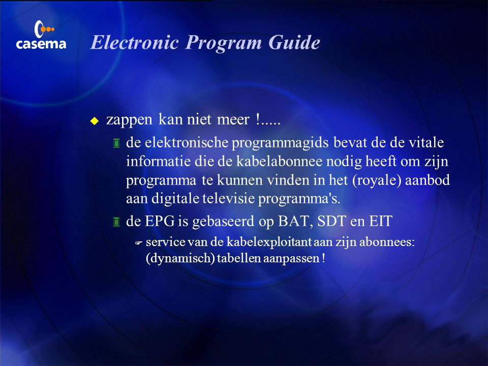 Electronic Program Guide