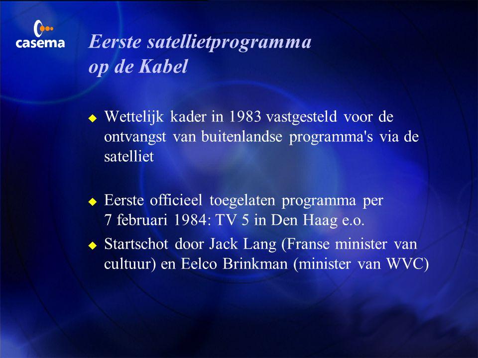Eerste satellietprogramma op de Kabel