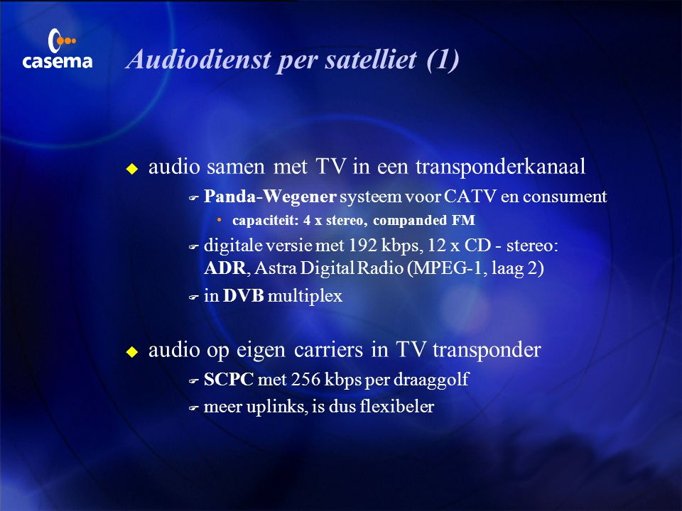 Audiodienst per satelliet (1)