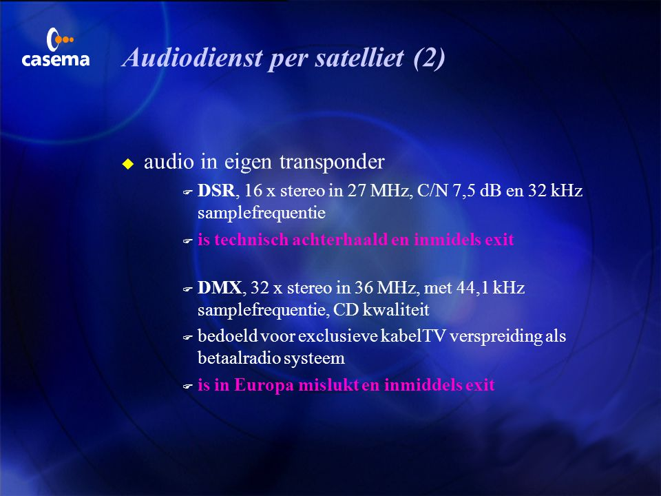 Audiodienst per satelliet (2)