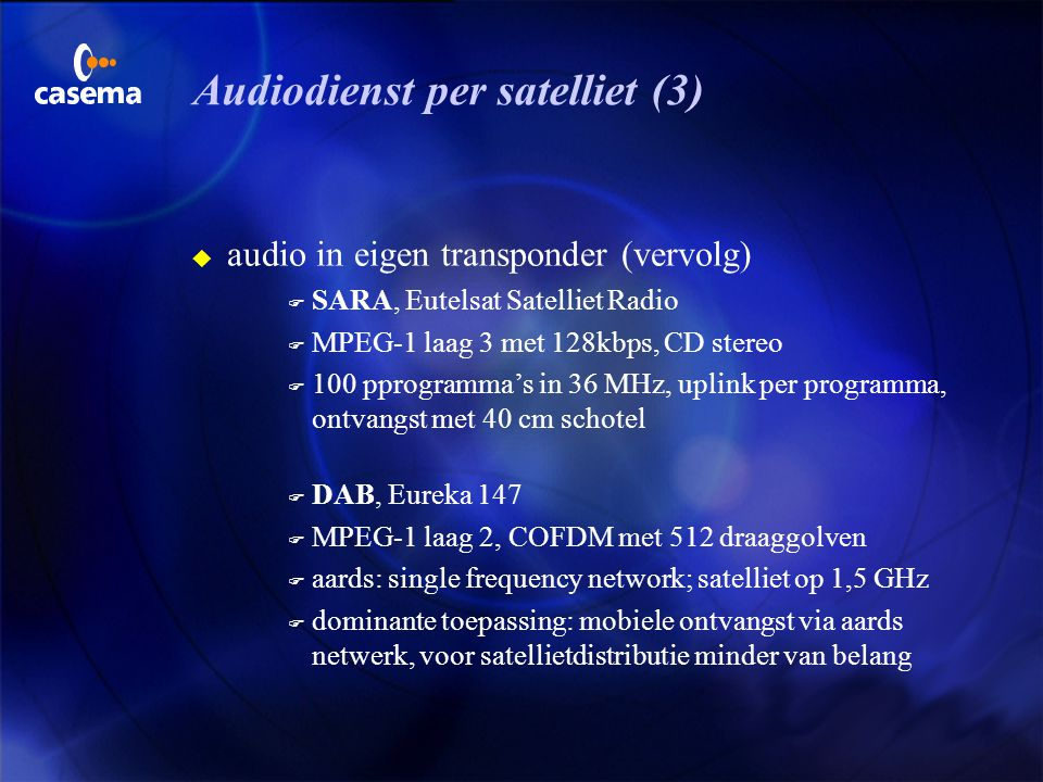 Audiodienst per satelliet (3)