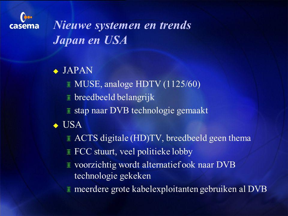 Nieuwe systemen en trends Japan en USA