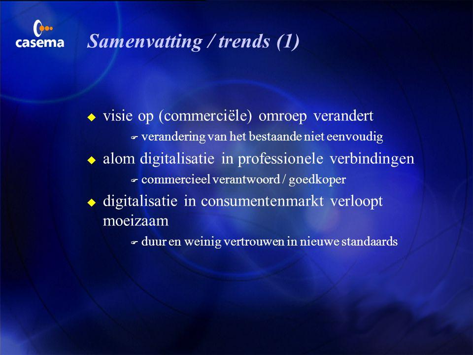 Samenvatting / trends (1)