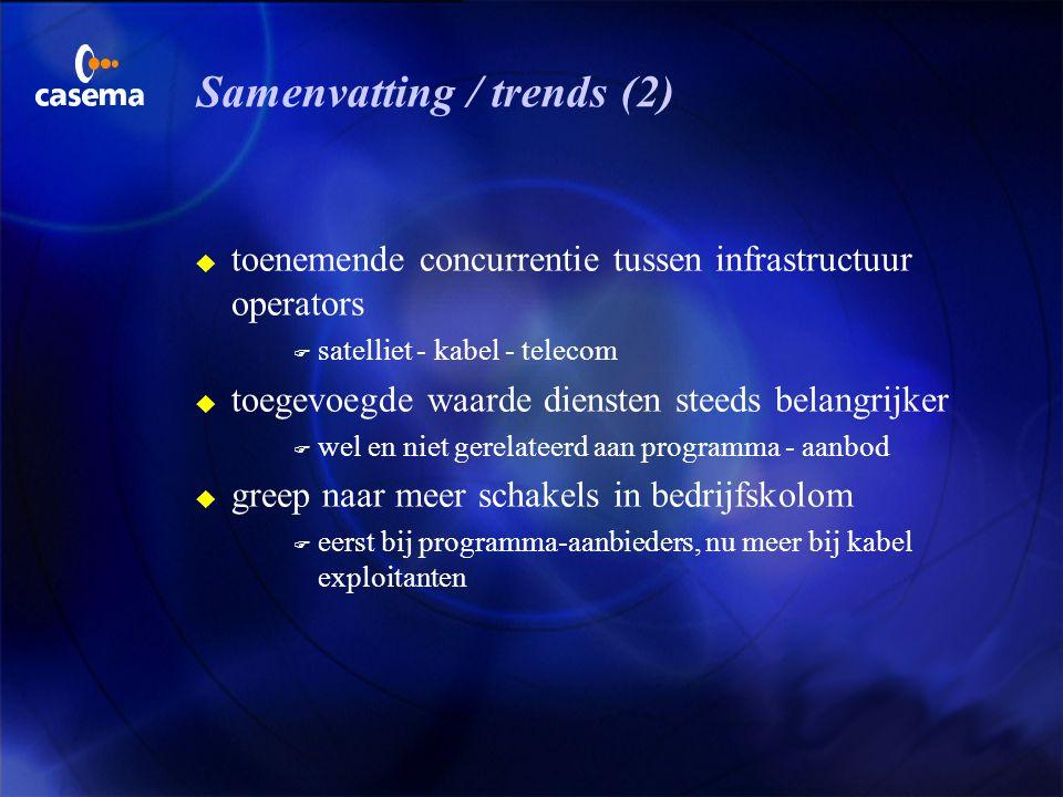 Samenvatting / trends (2)