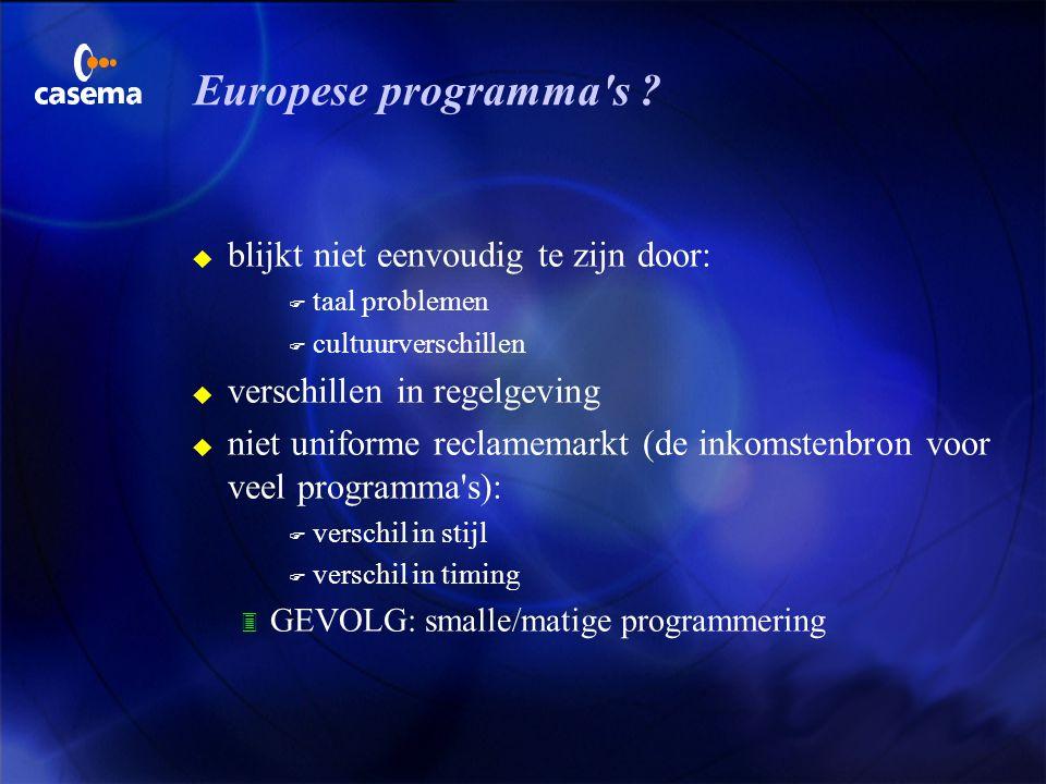Europese programma s blijkt niet eenvoudig te zijn door: