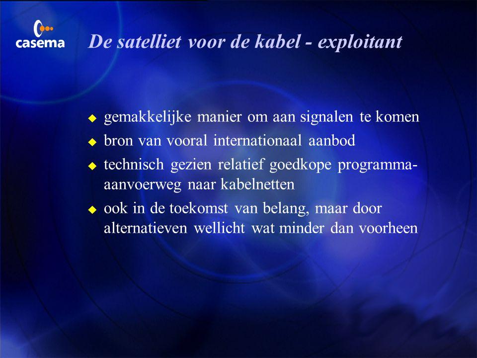 De satelliet voor de kabel - exploitant