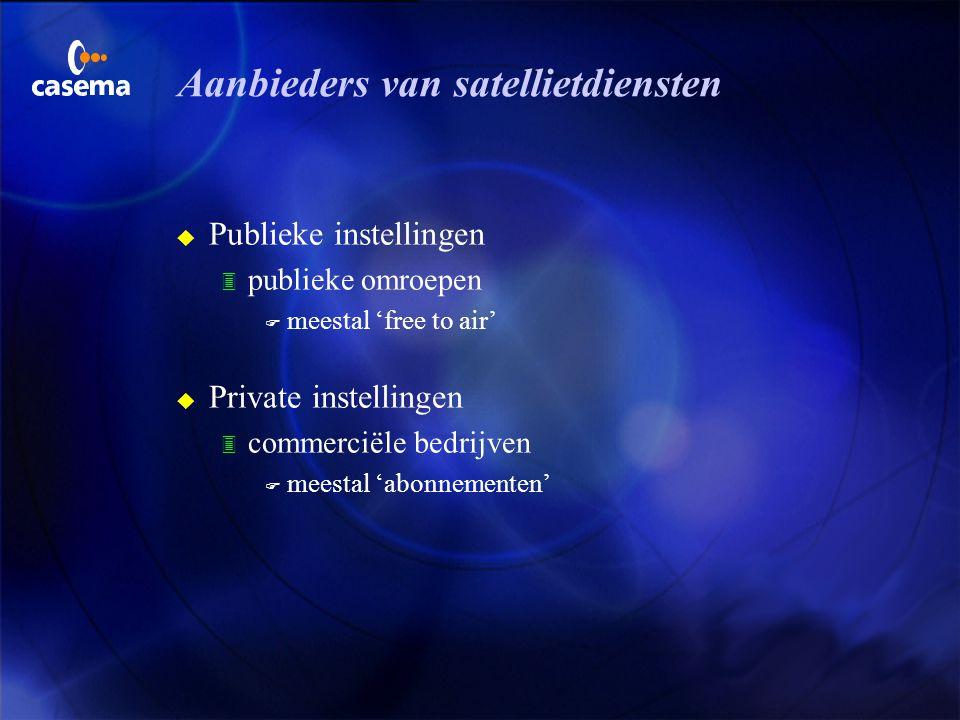 Aanbieders van satellietdiensten