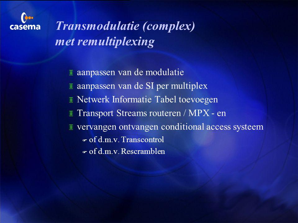 Transmodulatie (complex) met remultiplexing