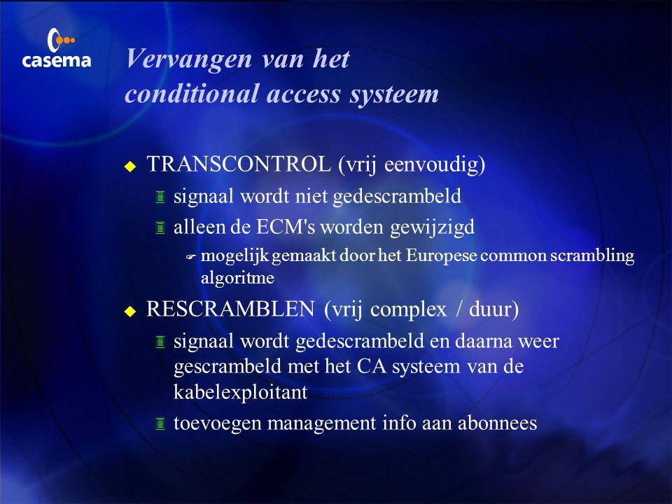 Vervangen van het conditional access systeem