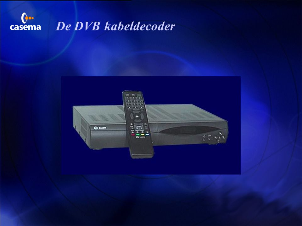 De DVB kabeldecoder