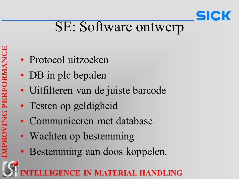 SE: Software ontwerp Protocol uitzoeken DB in plc bepalen