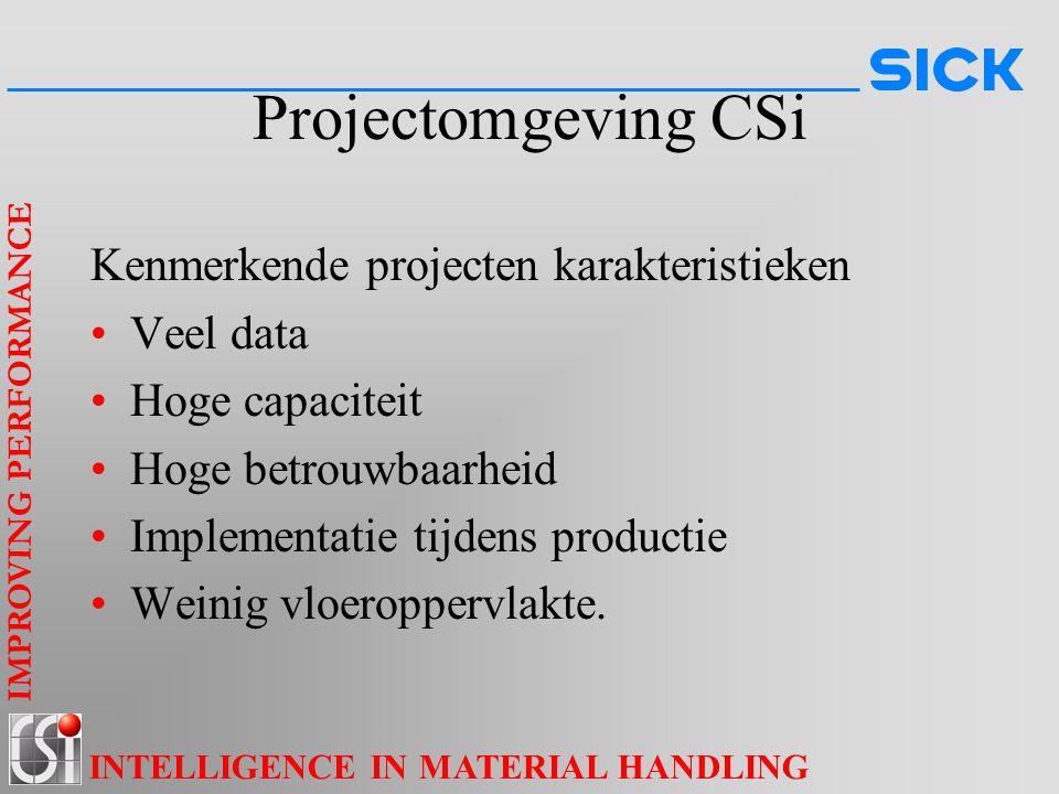Projectomgeving CSi Kenmerkende projecten karakteristieken Veel data
