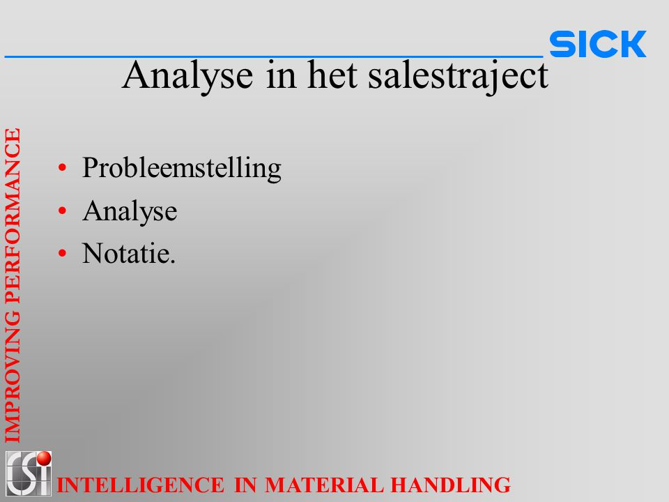 Analyse in het salestraject