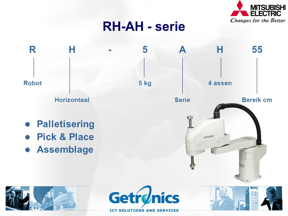 RH-AH - serie R H - 5 A 55 Palletisering Pick & Place Assemblage Robot